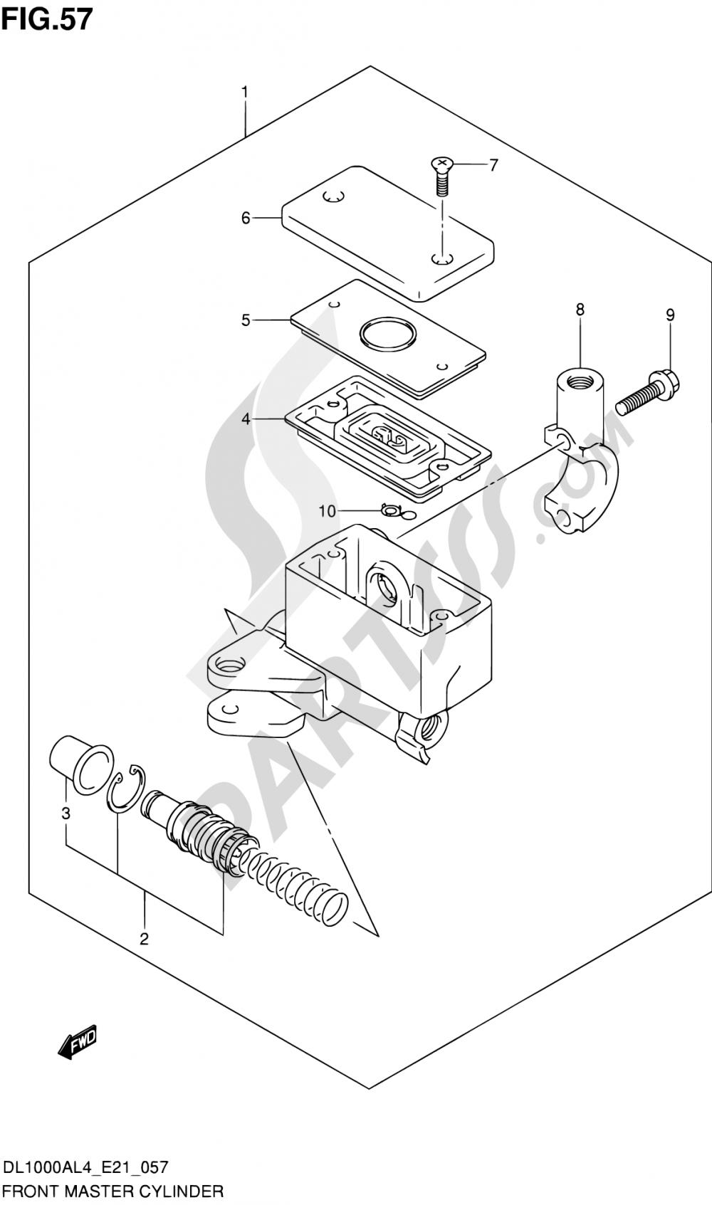 57 - FRONT MASTER CYLINDER Suzuki VSTROM DL1000A 2014