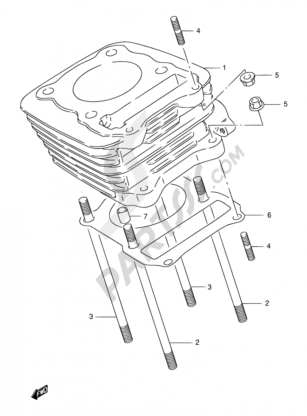 2 - CYLINDER Suzuki DR125SE 2001