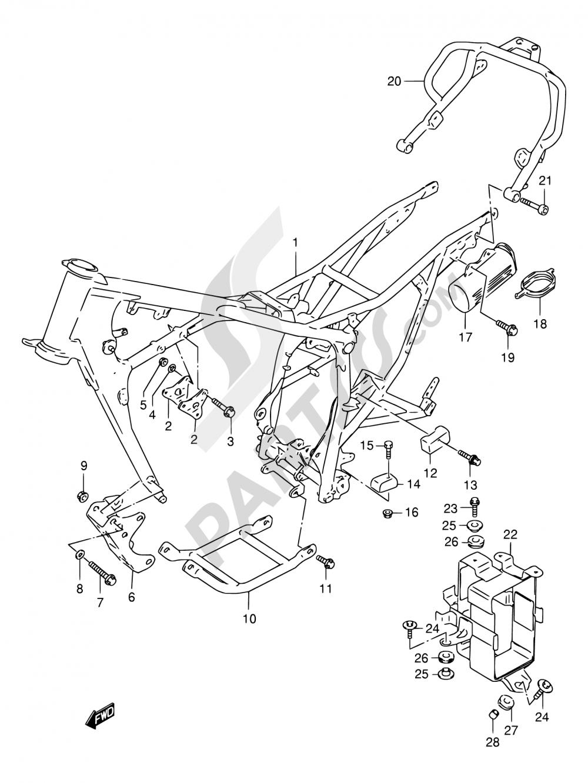 26A - FRAME (MODEL V/W) Suzuki DR125SE 1998