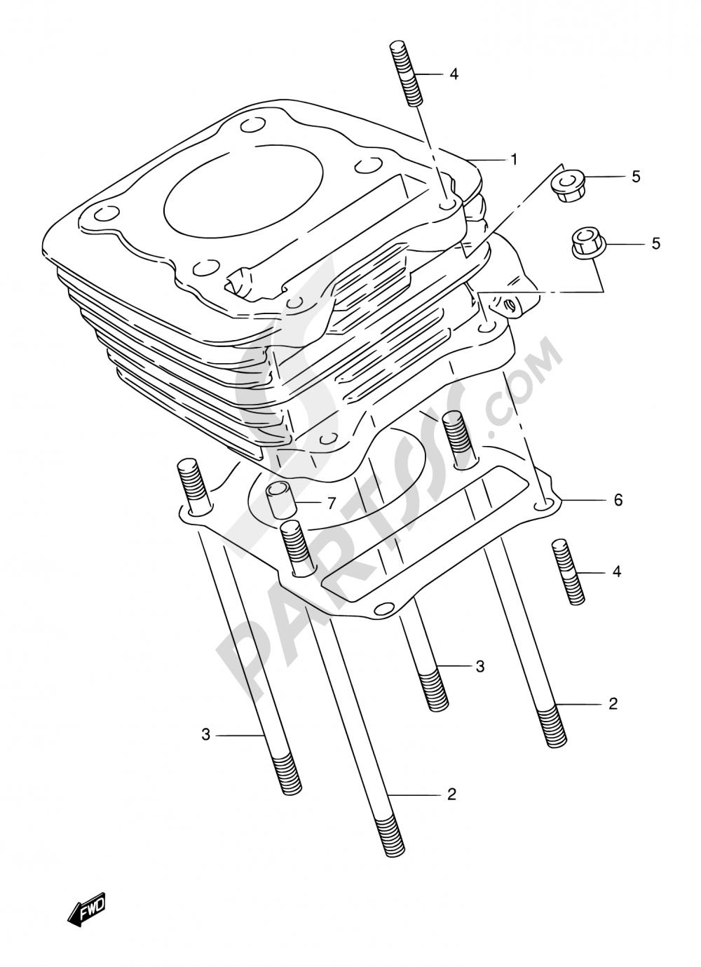 2 - CYLINDER Suzuki DR125SE 1999