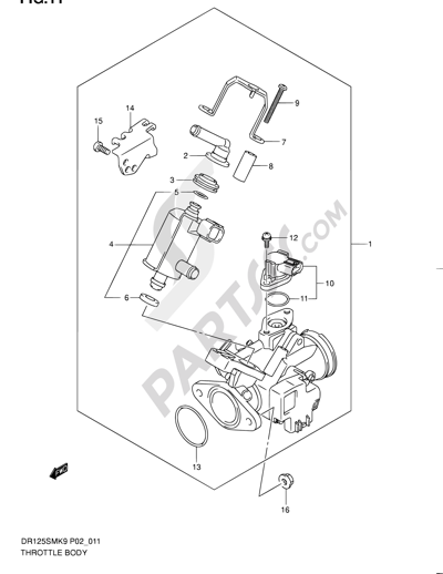 Suzuki Dr125sm 2009 Dissassembly Sheet Purchase Genuine Spare Parts