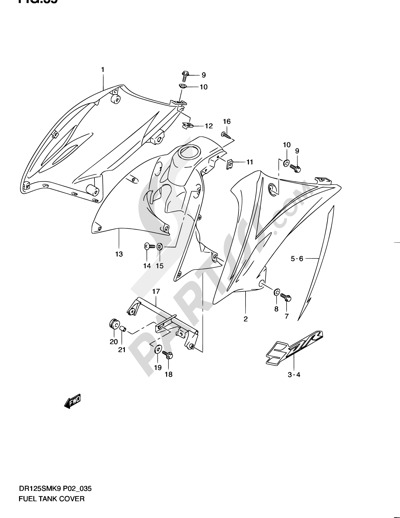 Suzuki Dr125sm 2009 Dissassembly Sheet Purchase Genuine Spare Parts