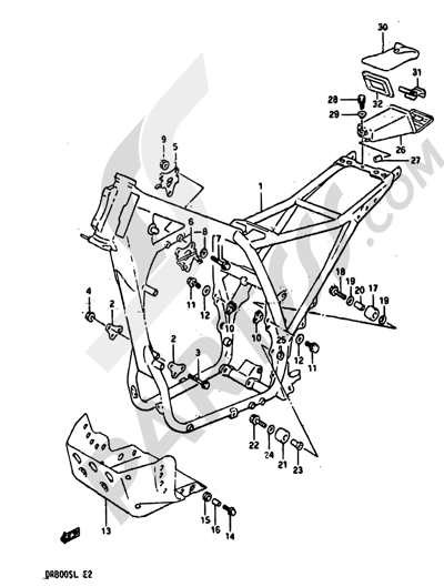 Suzuki Dr800s 1990 Dissassembly Sheet Purchase Genuine Spare Parts