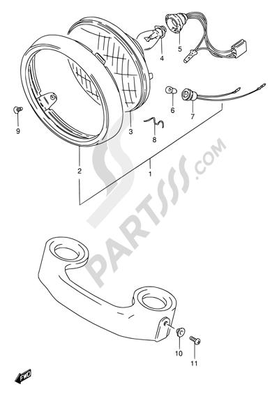 Suzuki Gn125 1991 Dissassembly Sheet Purchase Genuine Spare Parts
