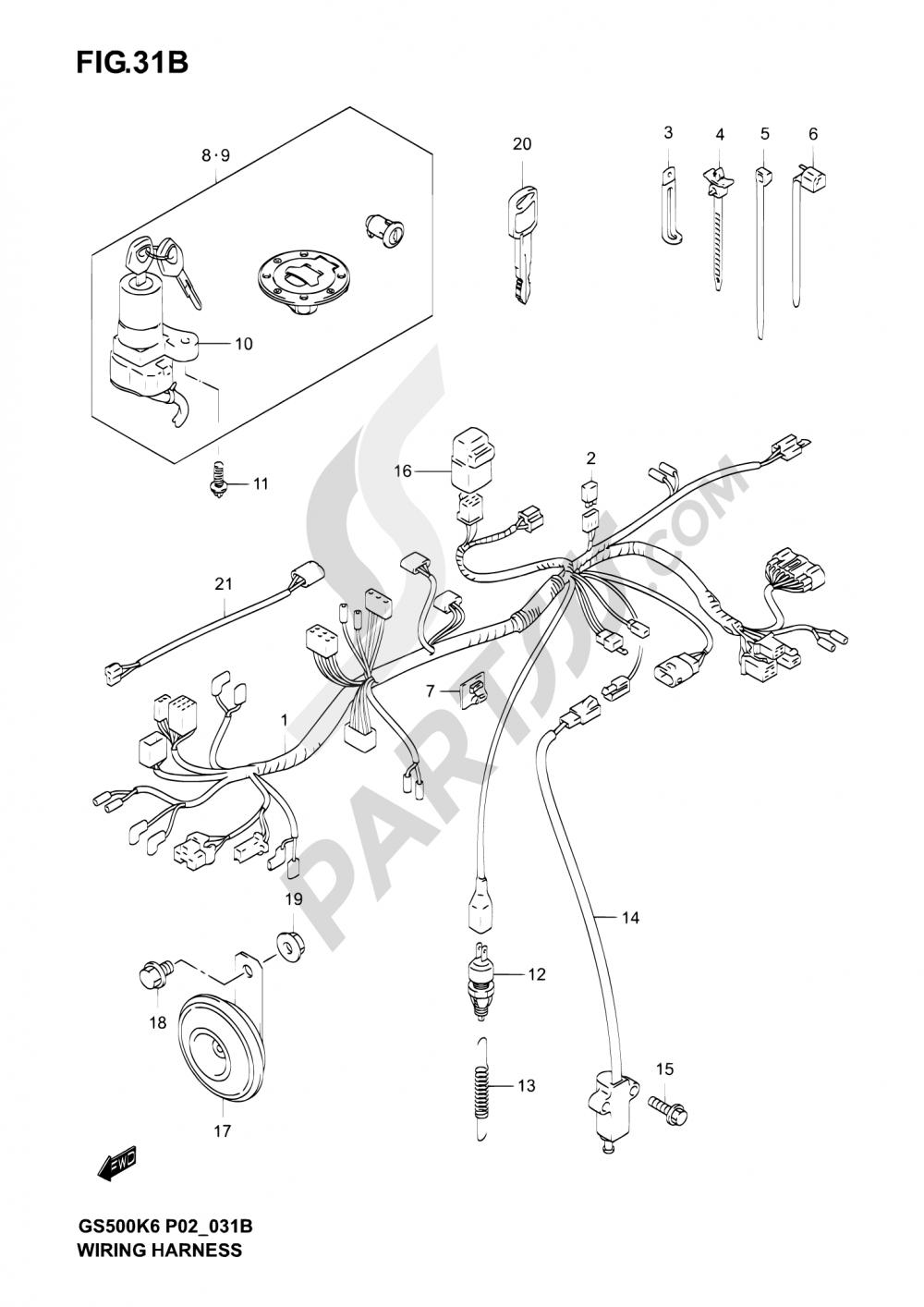 suzuki gsx600f wiring diagram  suzuki  auto wiring diagram