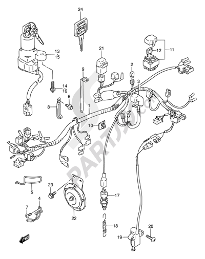 Wiring Diagram For Suzuki Gs500e Usa Model In