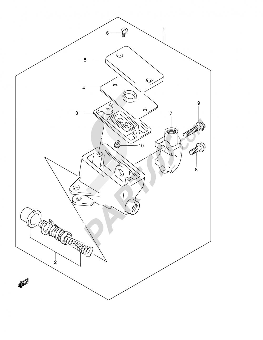 63 - FRONT MASTER CYLINDER (GSF1200K1/K2/K3/K4/ZK4/K5/ZK5) Suzuki BANDIT GSF1200 2005