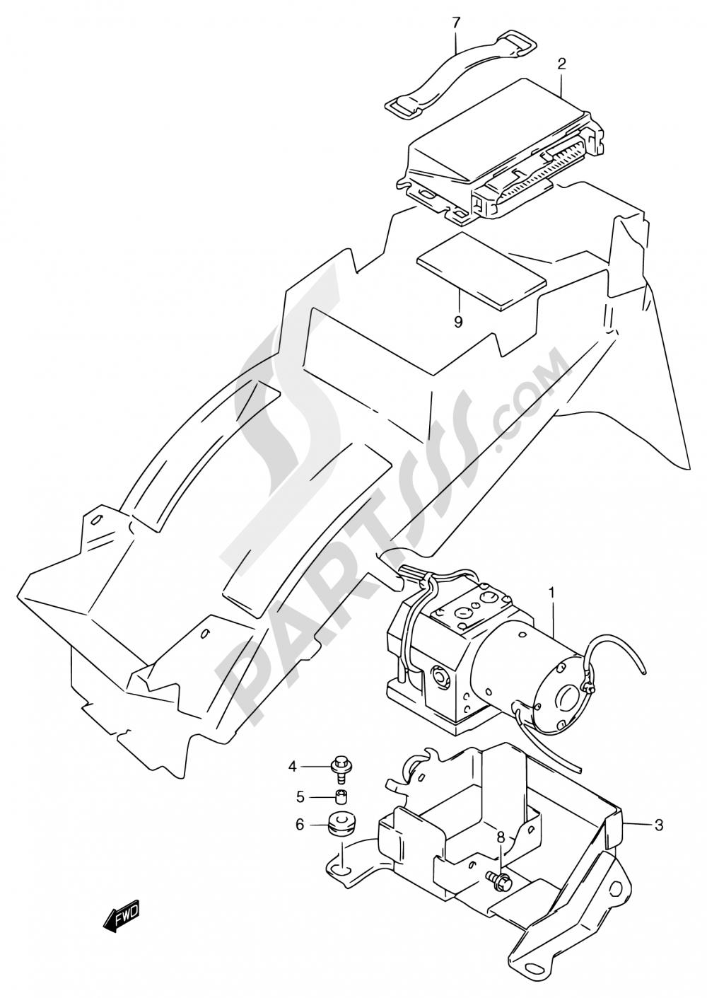 51 - HYDRAULIC UNIT (GSF1200SAV/SAW/SAX/SAY) Suzuki BANDIT GSF1200 1998