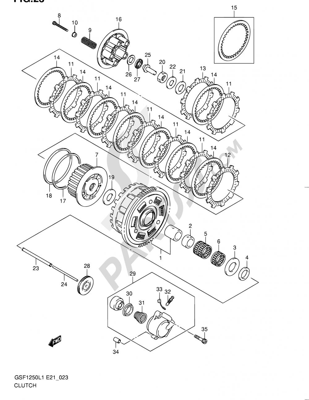 23 - CLUTCH Suzuki BANDIT GSF1250 2011