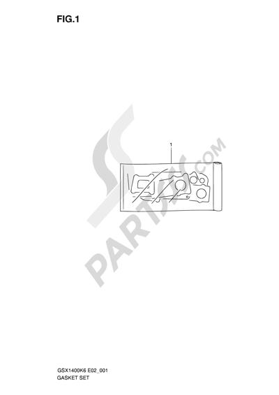 Suzuki GSX1400 2006 1 - GASKET SET