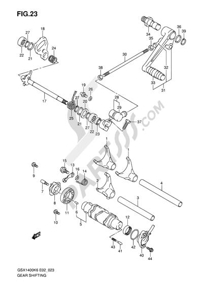 Suzuki GSX1400 2006 23 - GEAR SHIFTING
