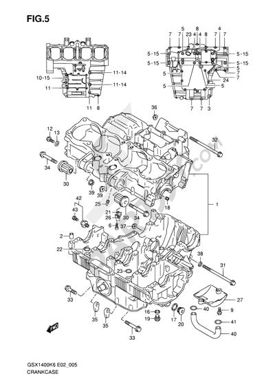 Suzuki GSX1400 2006 5 - CRANKCASE