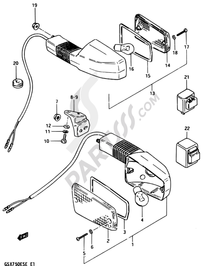 Suzuki Gsx750es 1984 Dissassembly Sheet Purchase Genuine Spare