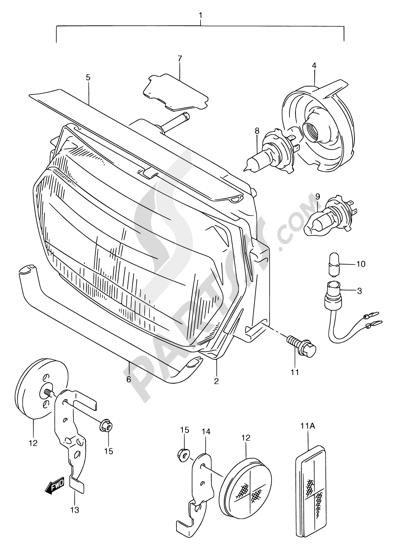 Suzuki GSX750F 1994 26 - HEADLAMP (MODEL K/L/M/N/P/R)