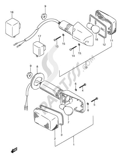 Suzuki GSX750F 1994 27 - TURNSIGNAL LAMP (MODEL K/L/M/N/P/R)