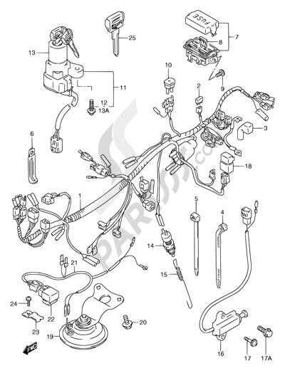Suzuki GSX750F 1994 29 - WIRING HARNESS (MODEL K/L/M/N/P/R)