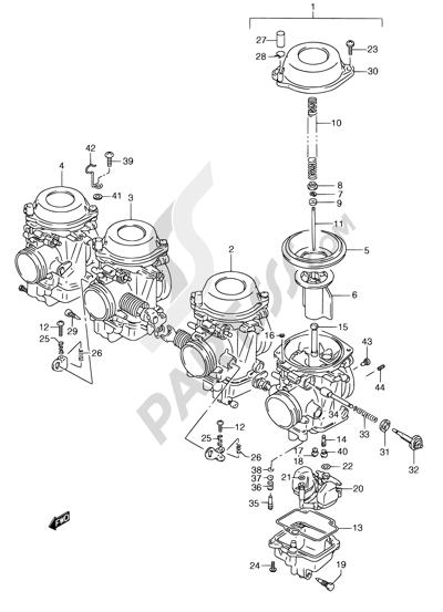 Suzuki GSX750F 1994 12 - CARBURETOR (MODEL K/L/M/N/P/R)