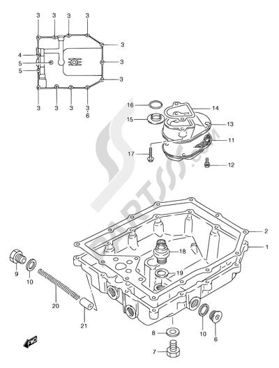 Suzuki GSX750F 1994 6 - OIL PAN
