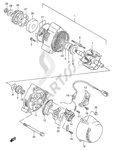 Suzuki Alternator Wiring
