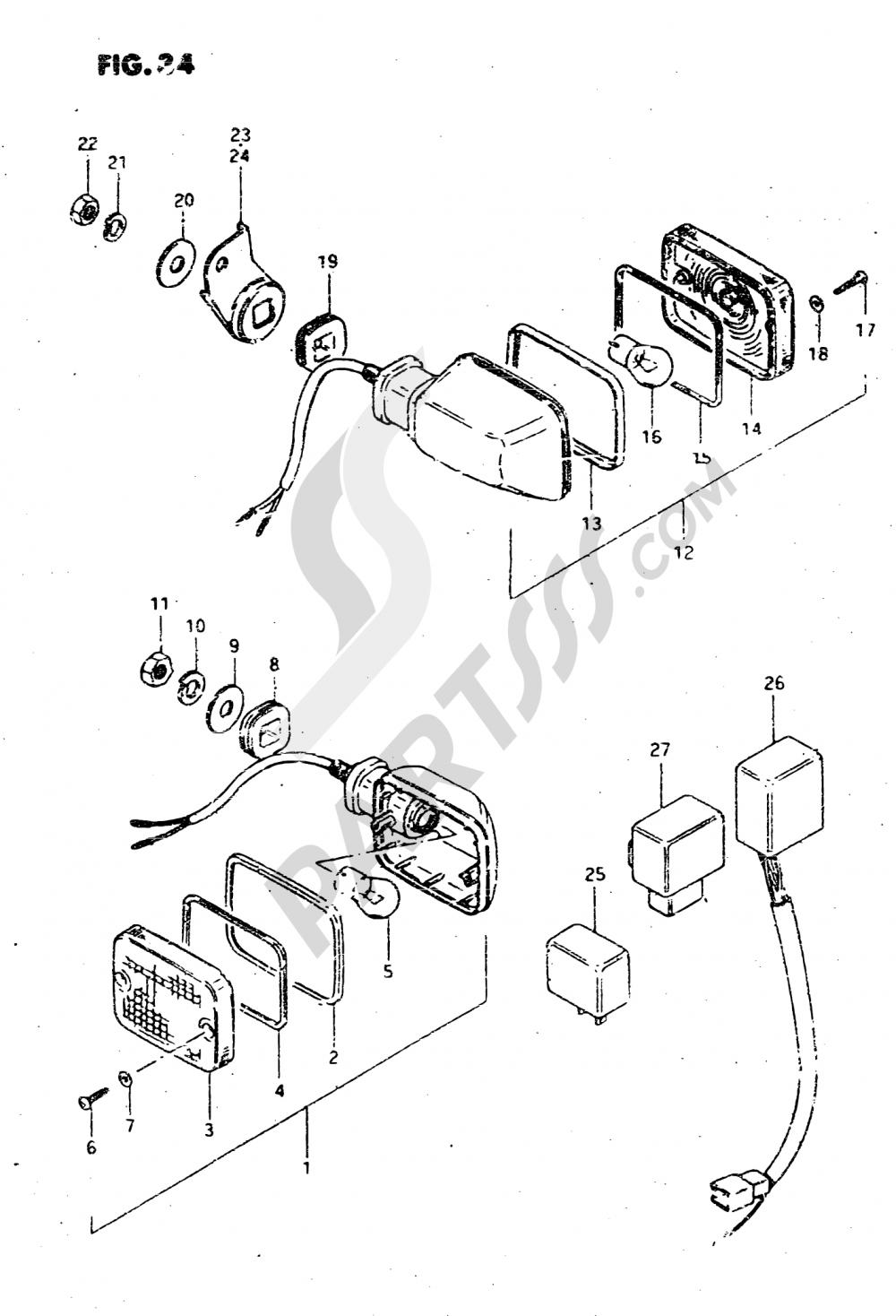 34 - TURN SIGNAL LAMP Suzuki GSX750S 1982
