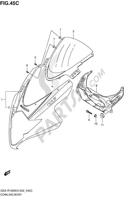 Suzuki GSX-R1000 2005 45C - COWLING BODY (GSX-R1000U2K6 E19)