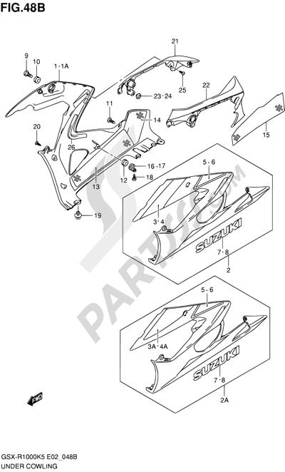 Suzuki GSX-R1000 2005 48B - UNDER COWLING (GSX-R1000K6 E02,E19,E24,P37)