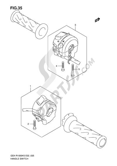 Suzuki GSX-R1000 2005 35 - HANDLE SWITCH