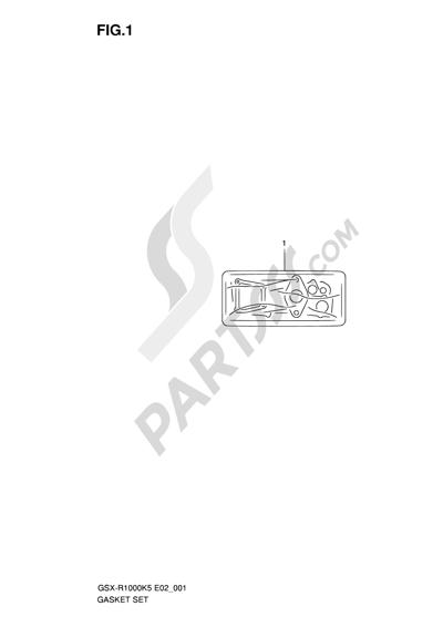 Suzuki GSX-R1000 2005 1 - GASKET SET