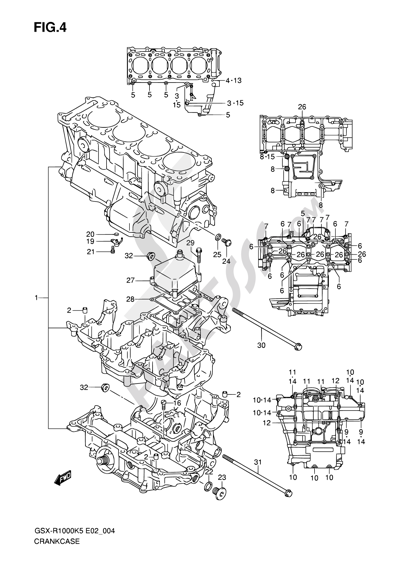 Suzuki GSX-R1000 2005 4 - CRANKCASE