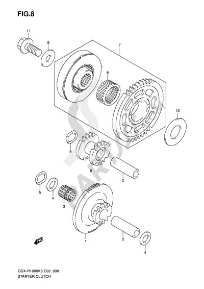Suzuki GSX-R1000 2005 8 - STARTER CLUTCH