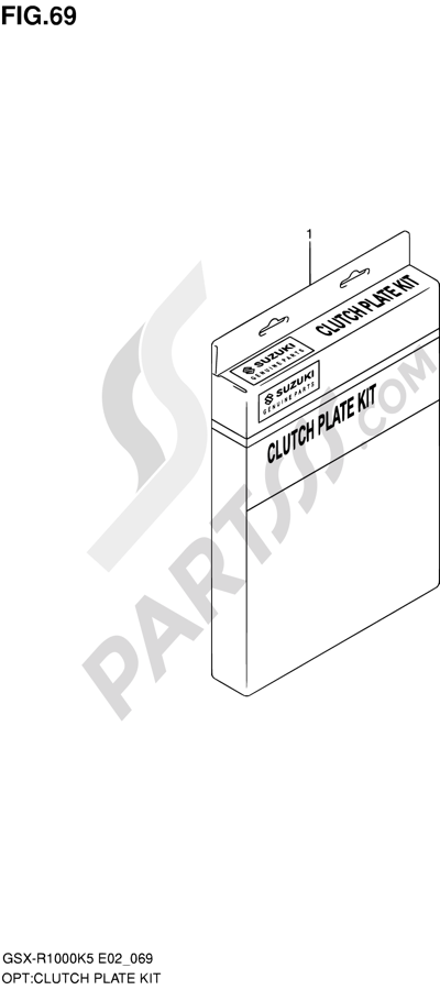 Suzuki GSX-R1000 2005 69 - CLUTCH PLATE KIT