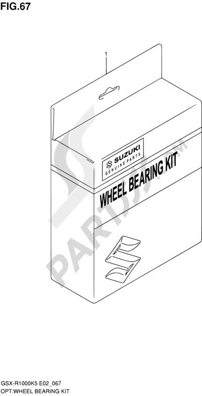 Suzuki GSX-R1000 2005 67 - WHEEL BEARING KIT
