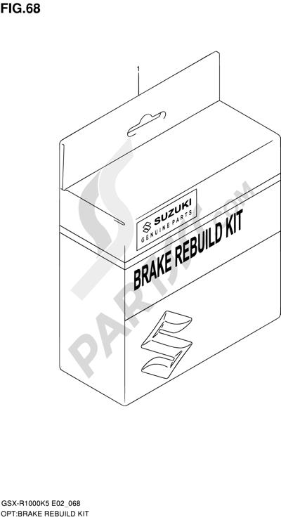 Suzuki GSX-R1000 2005 68 - BRAKE REBUILD KIT