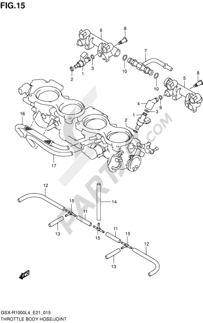 Suzuki Gsx R1000 2014 Dissassembly Sheet Purchase Genuine Spare