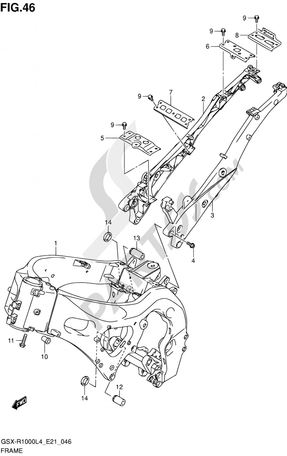 46 - FRAME Suzuki GSX-R1000 2014