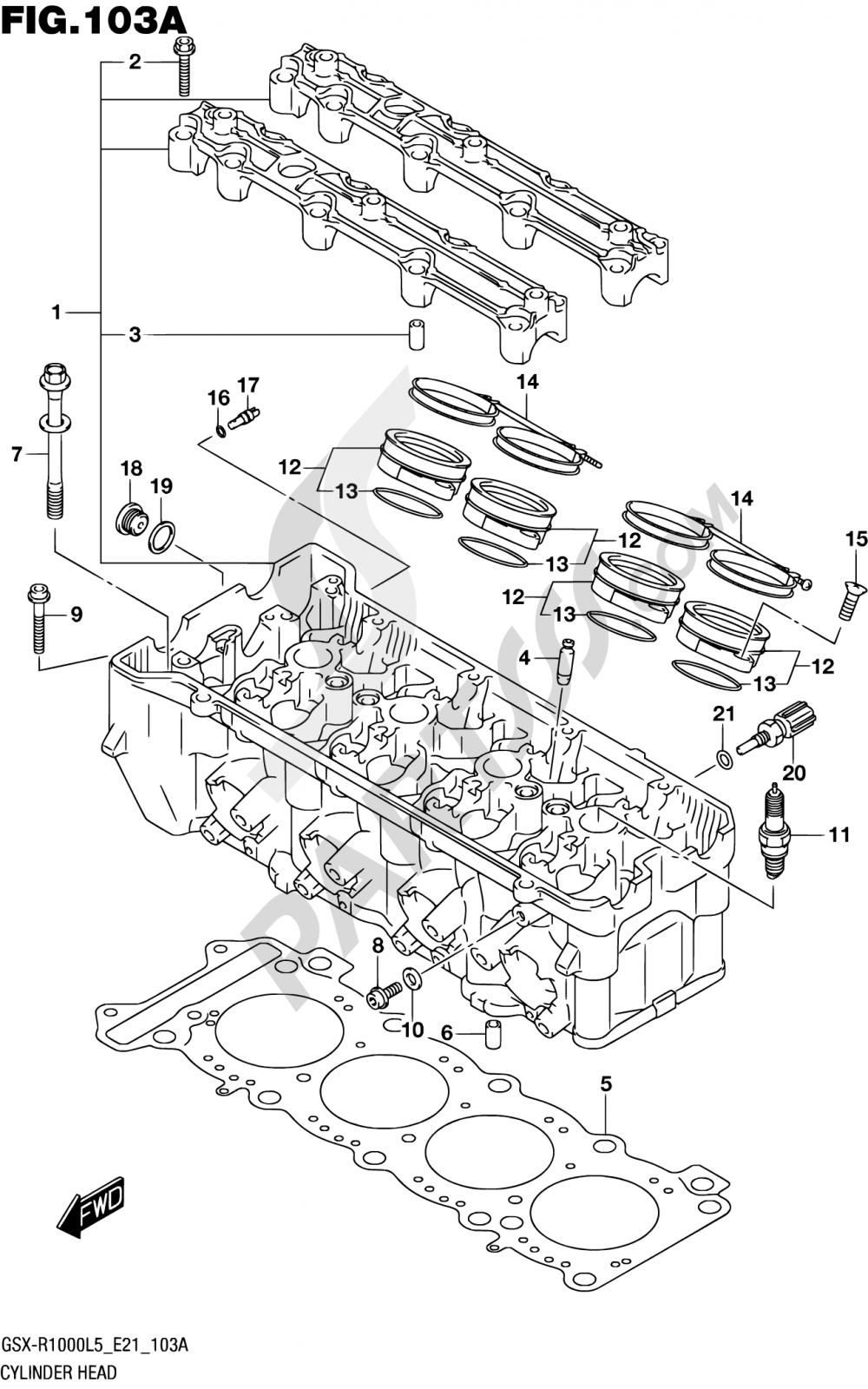 103A - CYLINDER HEAD Suzuki GSX-R1000 2015