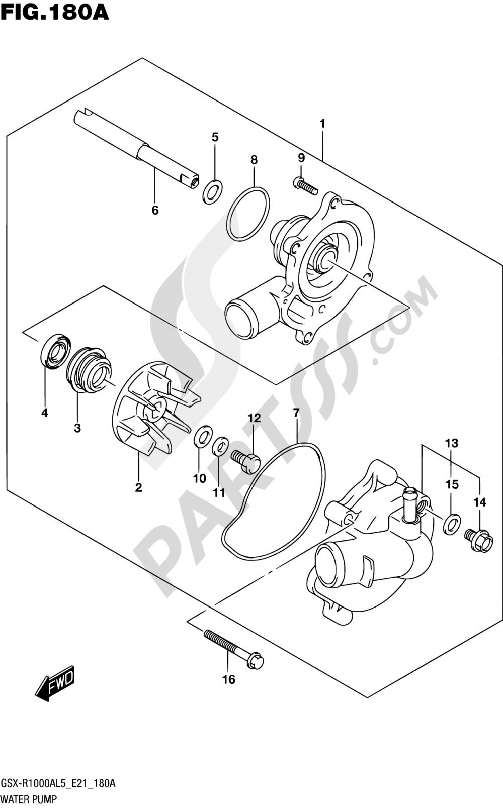 180A - WATER PUMP Suzuki GSX-R1000A 2015