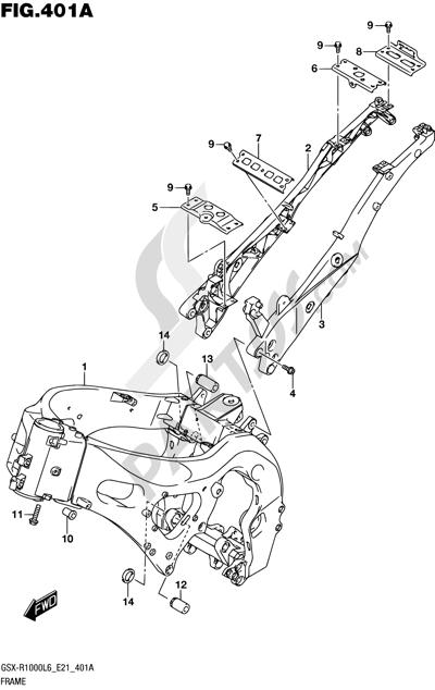 Suzuki GSX-R1000A 2016 401A - FRAME (GSX-R1000L6 E21)