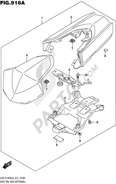 Suzuki GSX-R1000A 2016 916A - SEAT TAIL BOX (OPTIONAL)