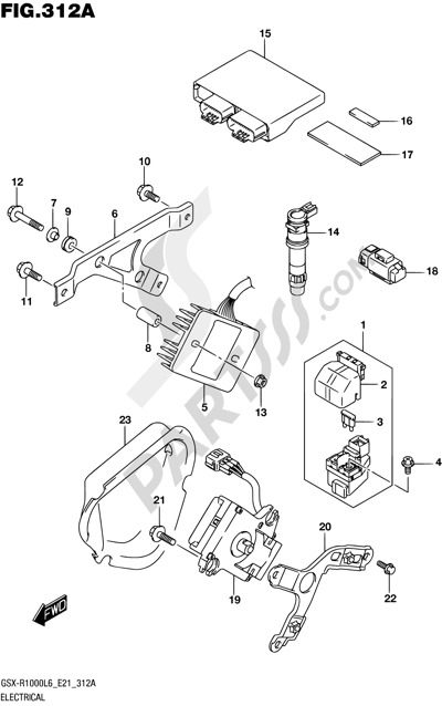 Suzuki GSX-R1000A 2016 312A - ELECTRICAL (GSX-R1000L6 E21)