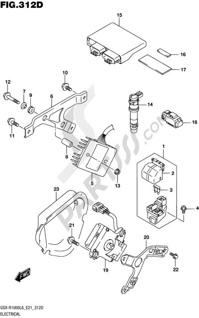 Suzuki GSX-R1000A 2016 312D - ELECTRICAL (GSX-R1000AUFL6 E21)