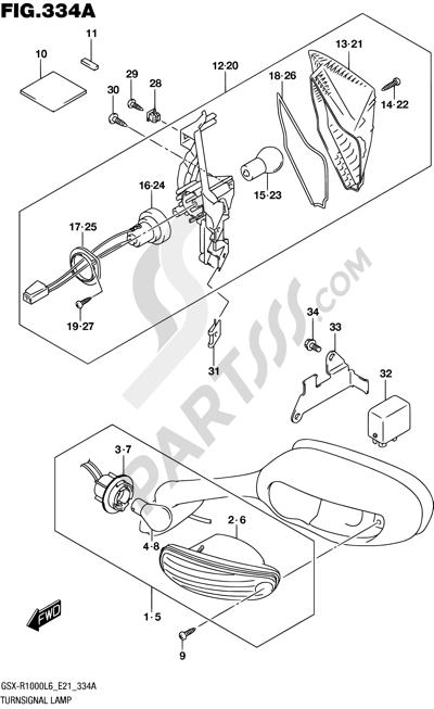 Suzuki GSX-R1000A 2016 334A - TURNSIGNAL LAMP