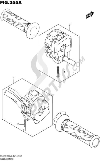Suzuki GSX-R1000A 2016 355A - HANDLE SWITCH