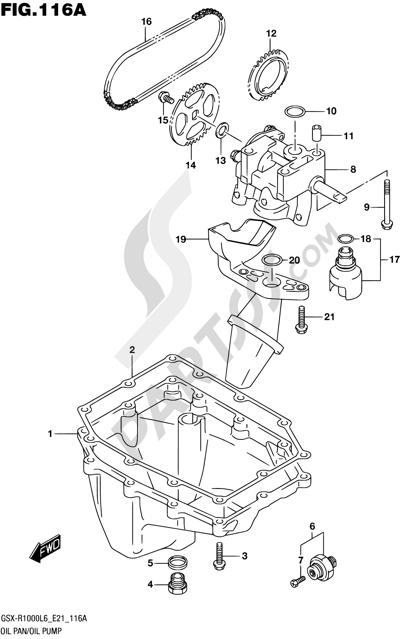 Suzuki GSX-R1000A 2016 116A - OIL PAN/OIL PUMP