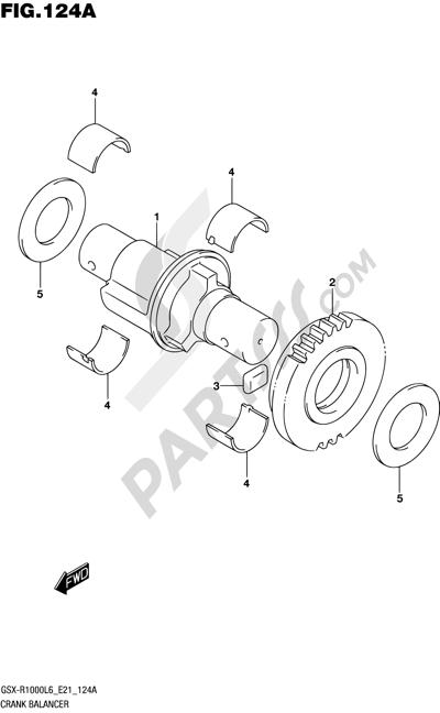 Suzuki GSX-R1000A 2016 124A - CRANK BALANCER