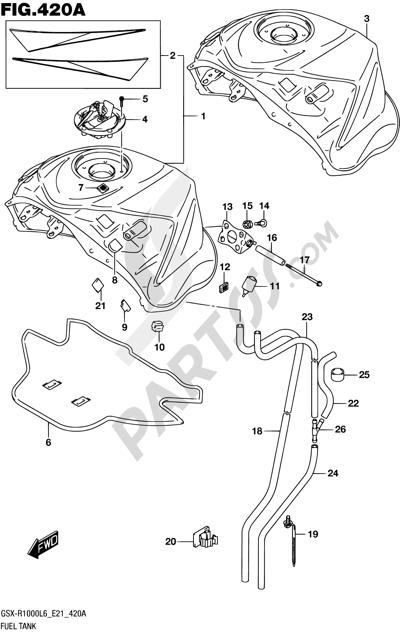 Suzuki GSX-R1000A 2016 420A - FUEL TANK (GSX-R1000L6 E21)