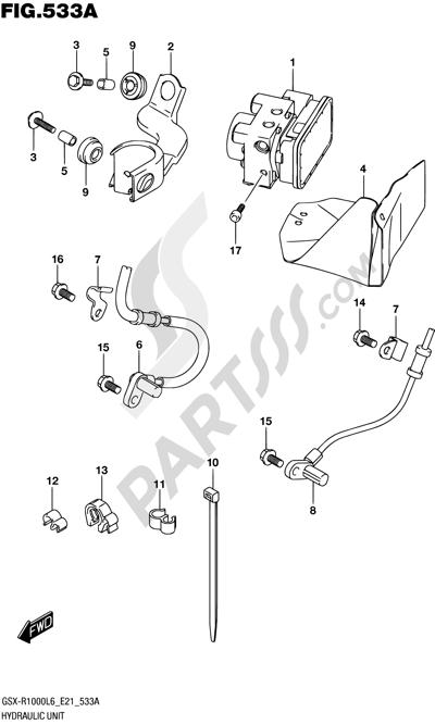 Suzuki GSX-R1000A 2016 533A - HYDRAULIC UNIT (GSX-R1000AL6 E21)