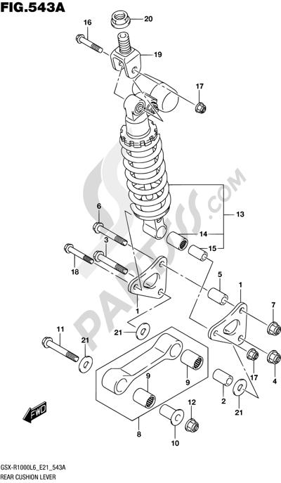 Suzuki GSX-R1000A 2016 543A - REAR CUSHION LEVER (GSX-R1000L6 E21)