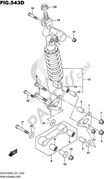 Suzuki GSX-R1000A 2016 543D - REAR CUSHION LEVER (GSX-R1000AUFL6 E21)