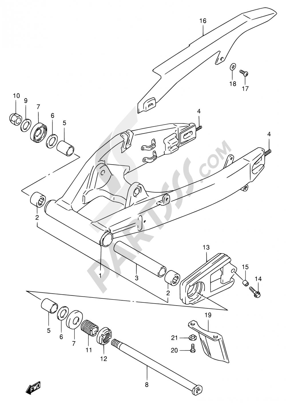 57 - REAR SWINGING ARM (MODEL P/R) Suzuki GSX-R1100W 1994